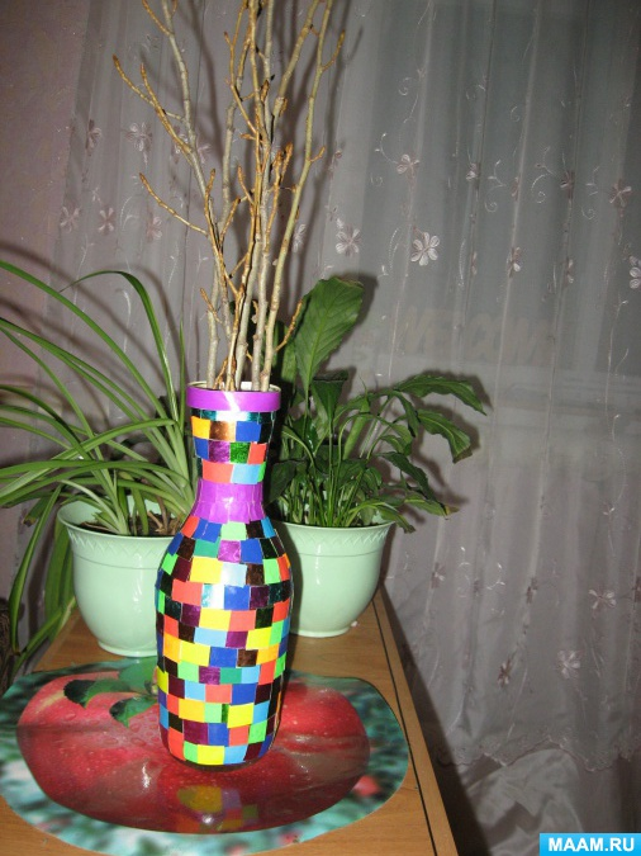 Мастер-класс по декорированию бутылки «Ваза»