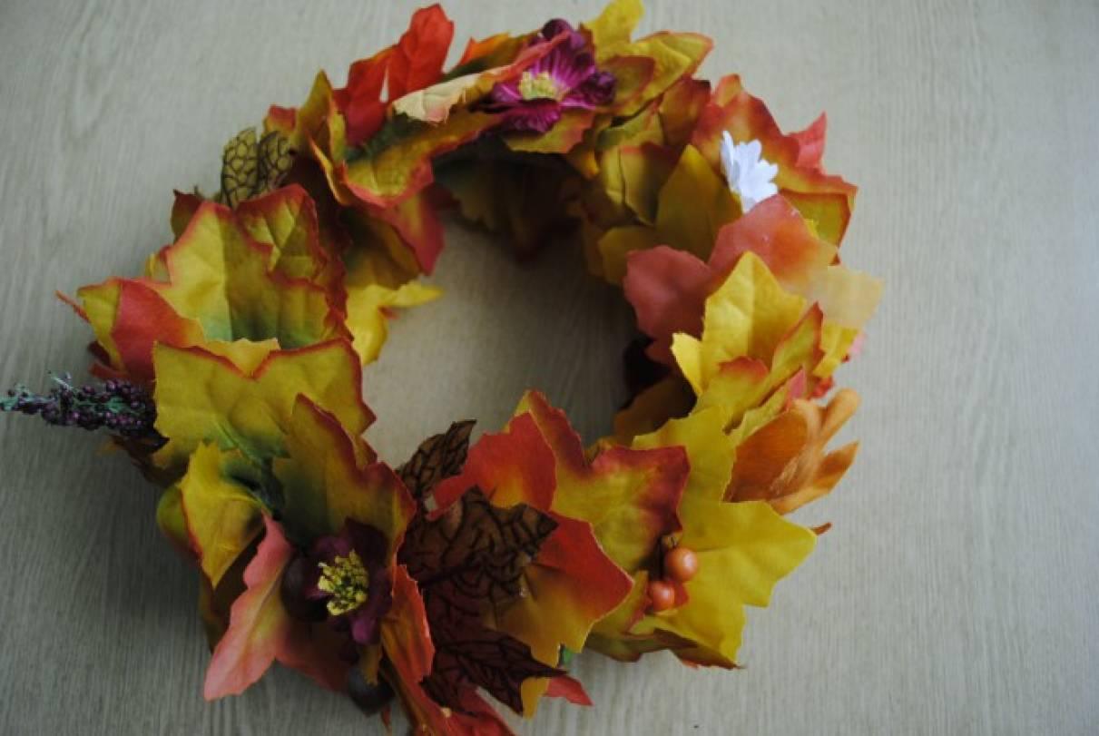 Сделать осенний венок на голову - Ободок и венок из цветов на голову своими руками