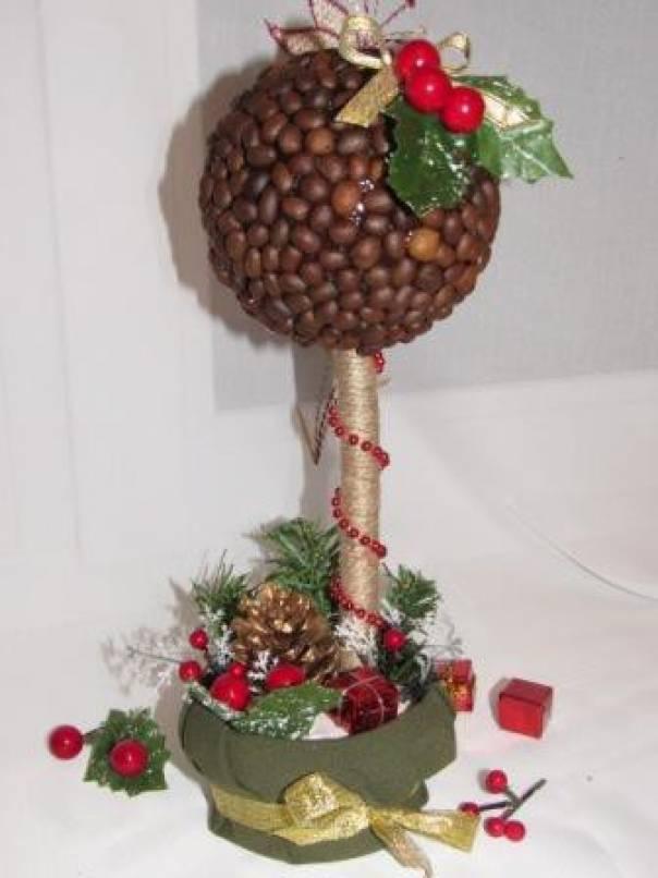 Мастер-класс «Рождественский кофейный топиарий»
