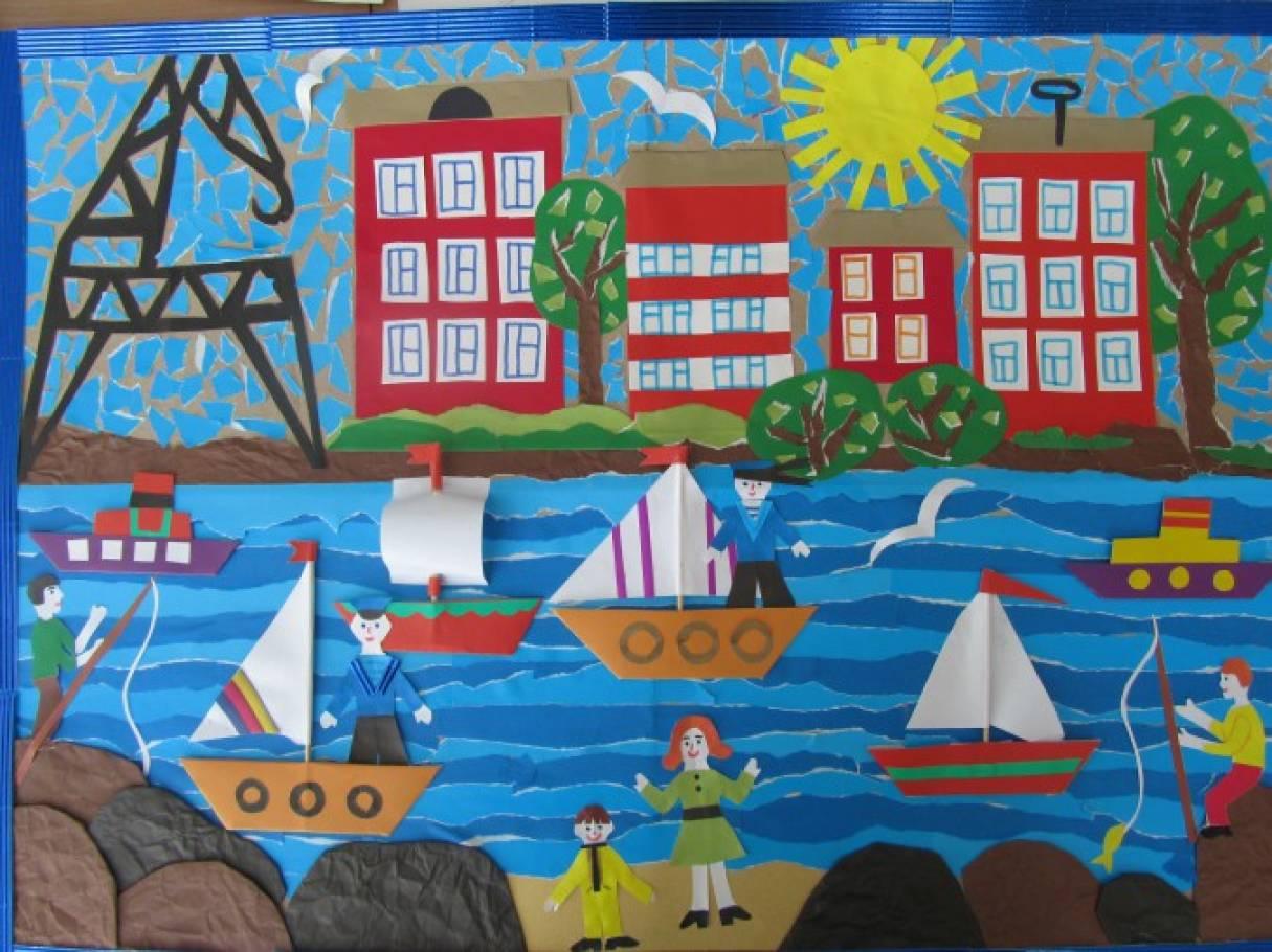 поделка открытка наш город самое главное
