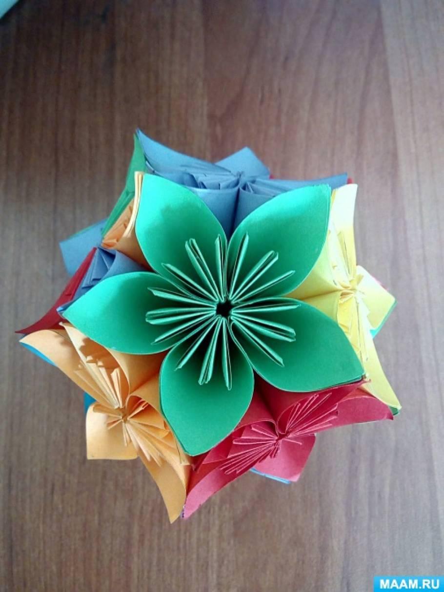 Презентация мастер-класса «Цветочный шар в технике «кусудама»