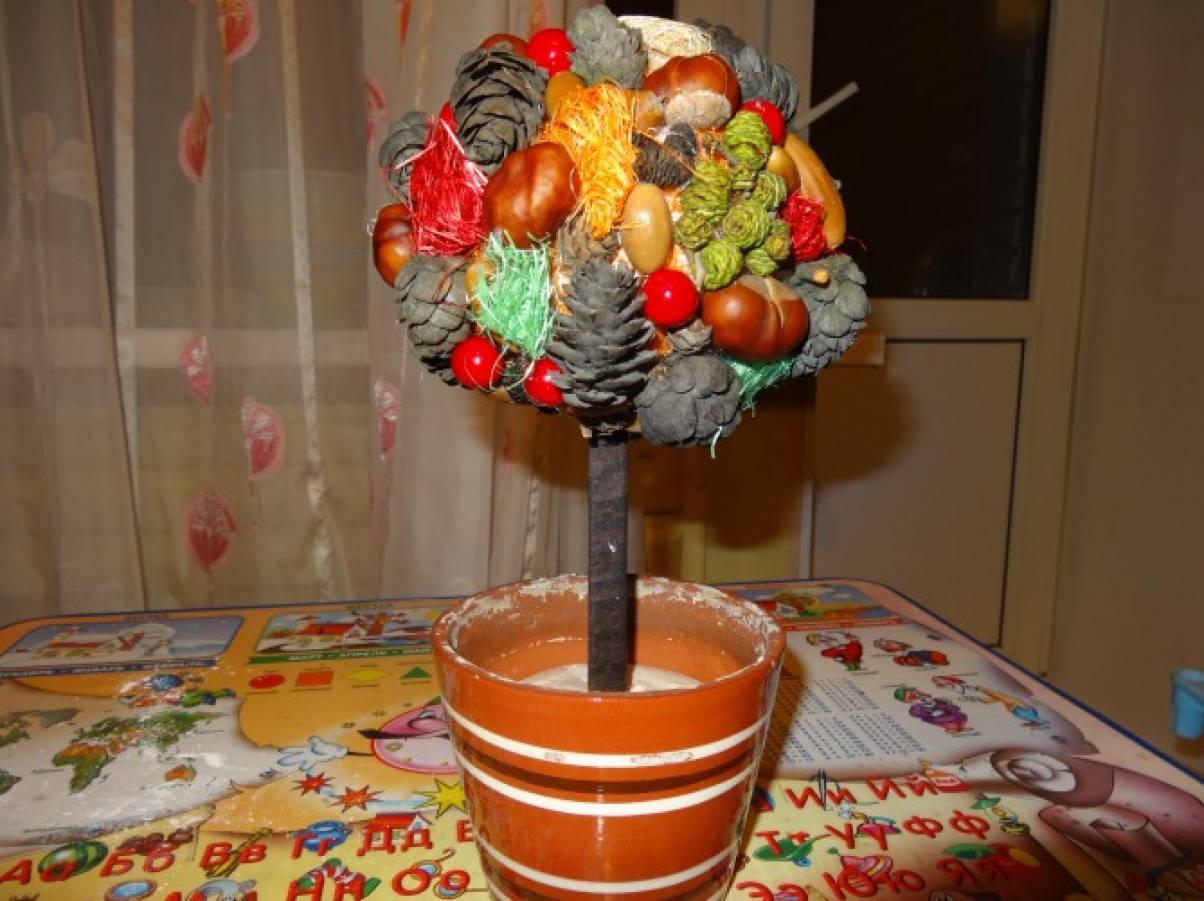 Осенний топиарий своими руками фото 17