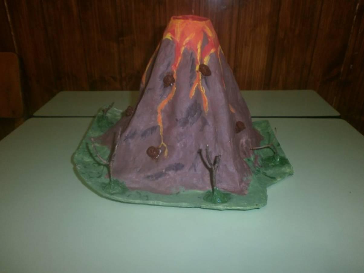 Вулкан своими руками в домашних условиях из бумаги 76