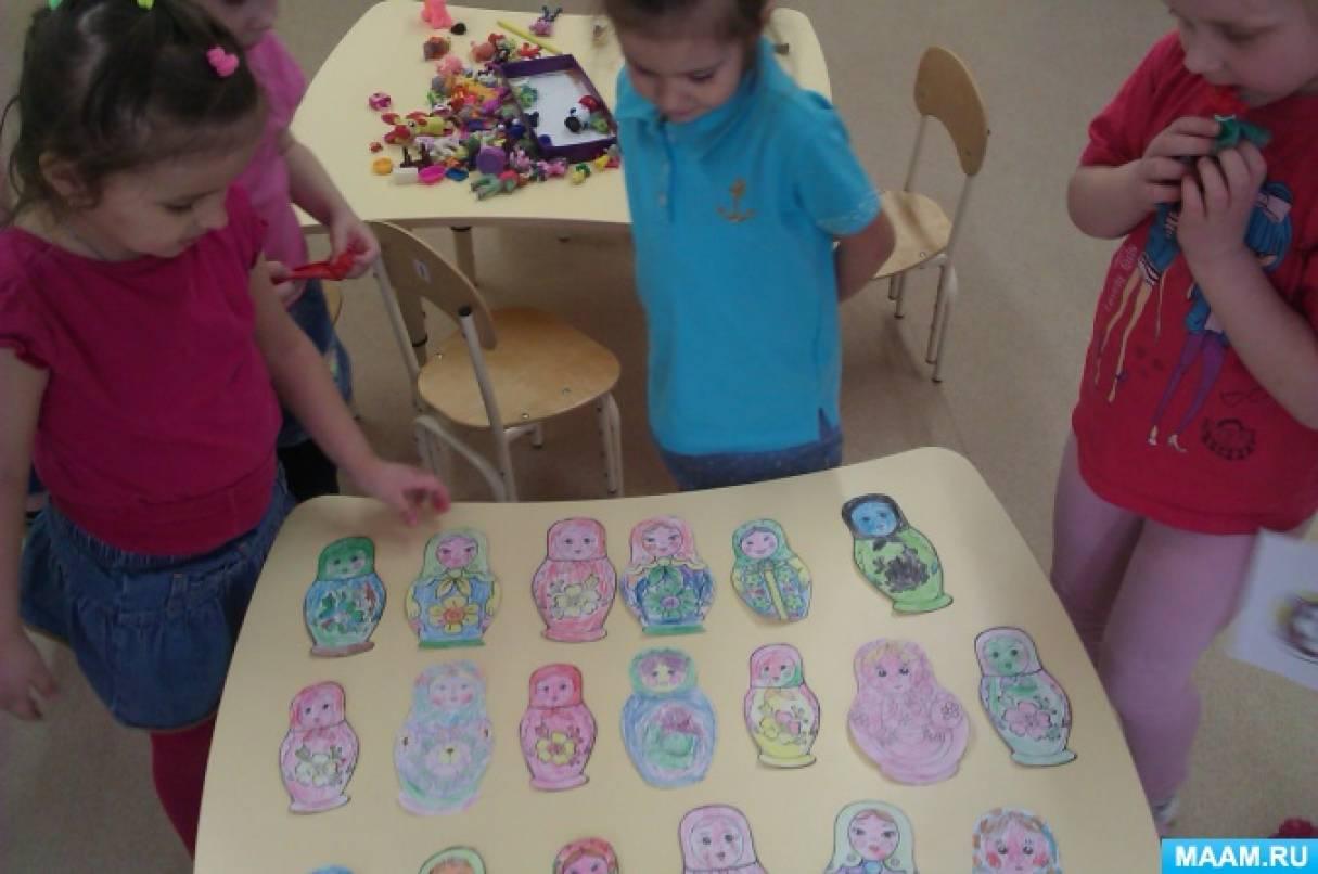знакомство детей с цветом в средней группе