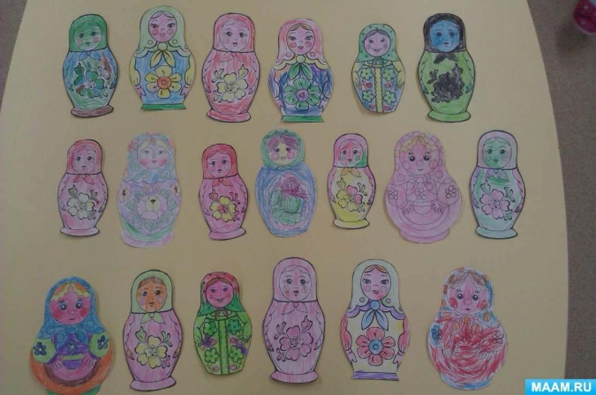 знакомство детей с народным творчеством в средней группе