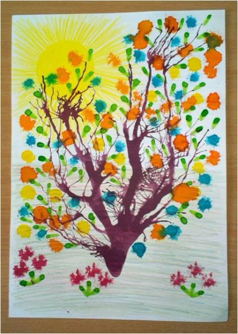 Урок рисования для детей 4-5 лет красками цветы