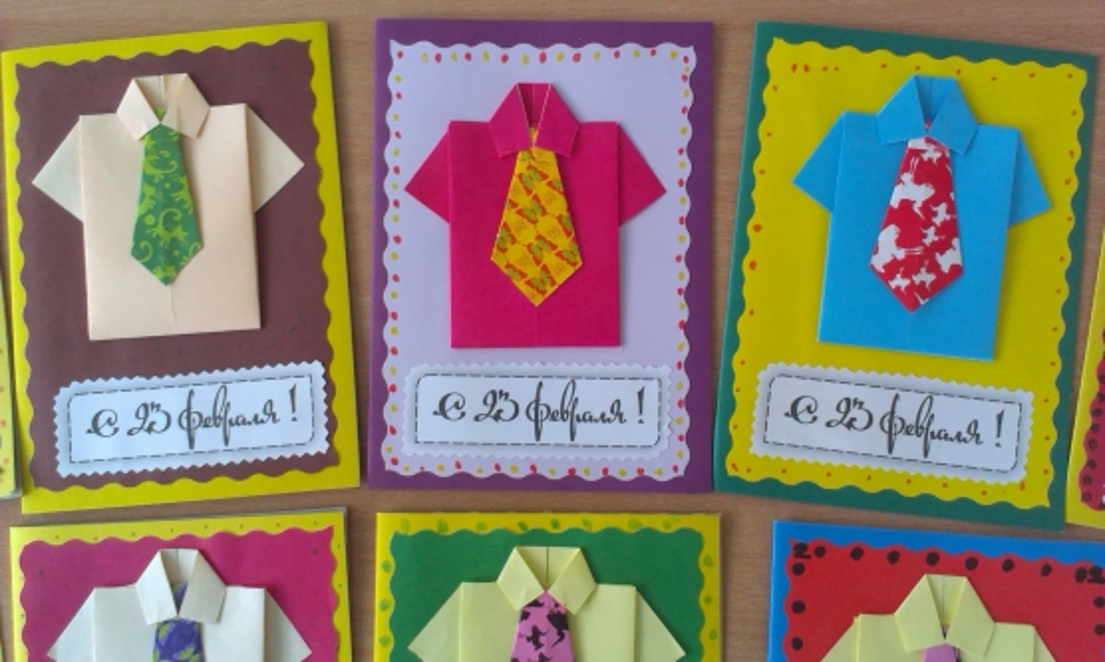 Идея открытки своими руками для папы, поздравительные