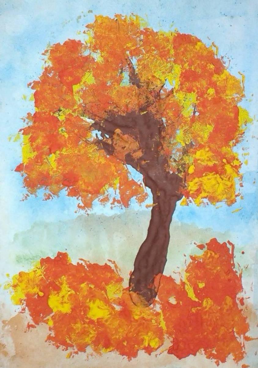 Картинки как рисовать осеннее дерево