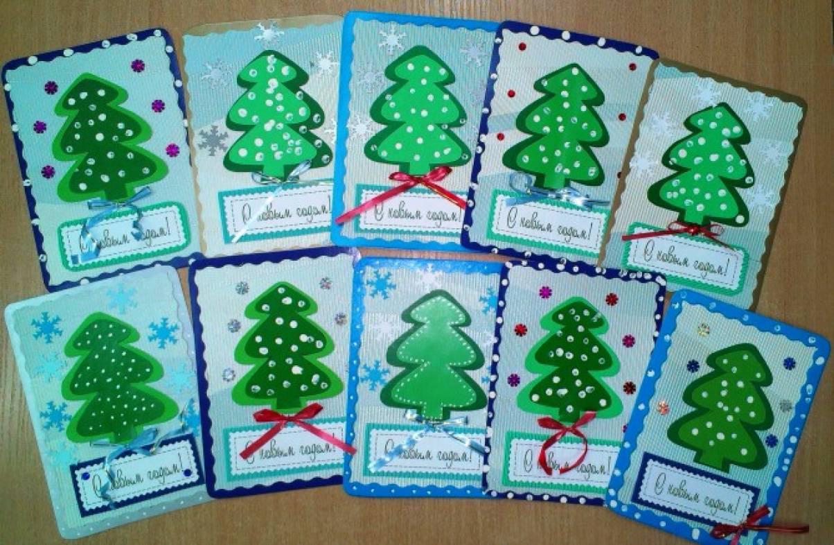 Детские открытки с новым годом своими руками
