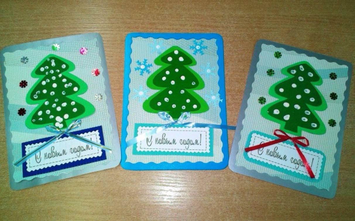 Празднику, новогодние поздравительные открытки средняя группа