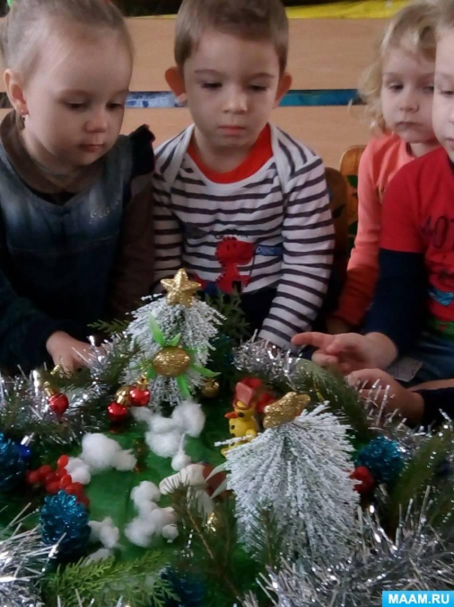 Новогодний праздник для детей смешанной ранней группы «В гости к елочке»