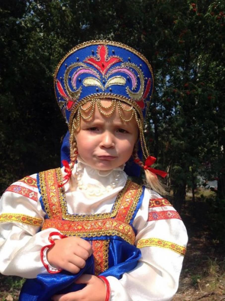 Кокошник к русскому сарафану своими руками 93