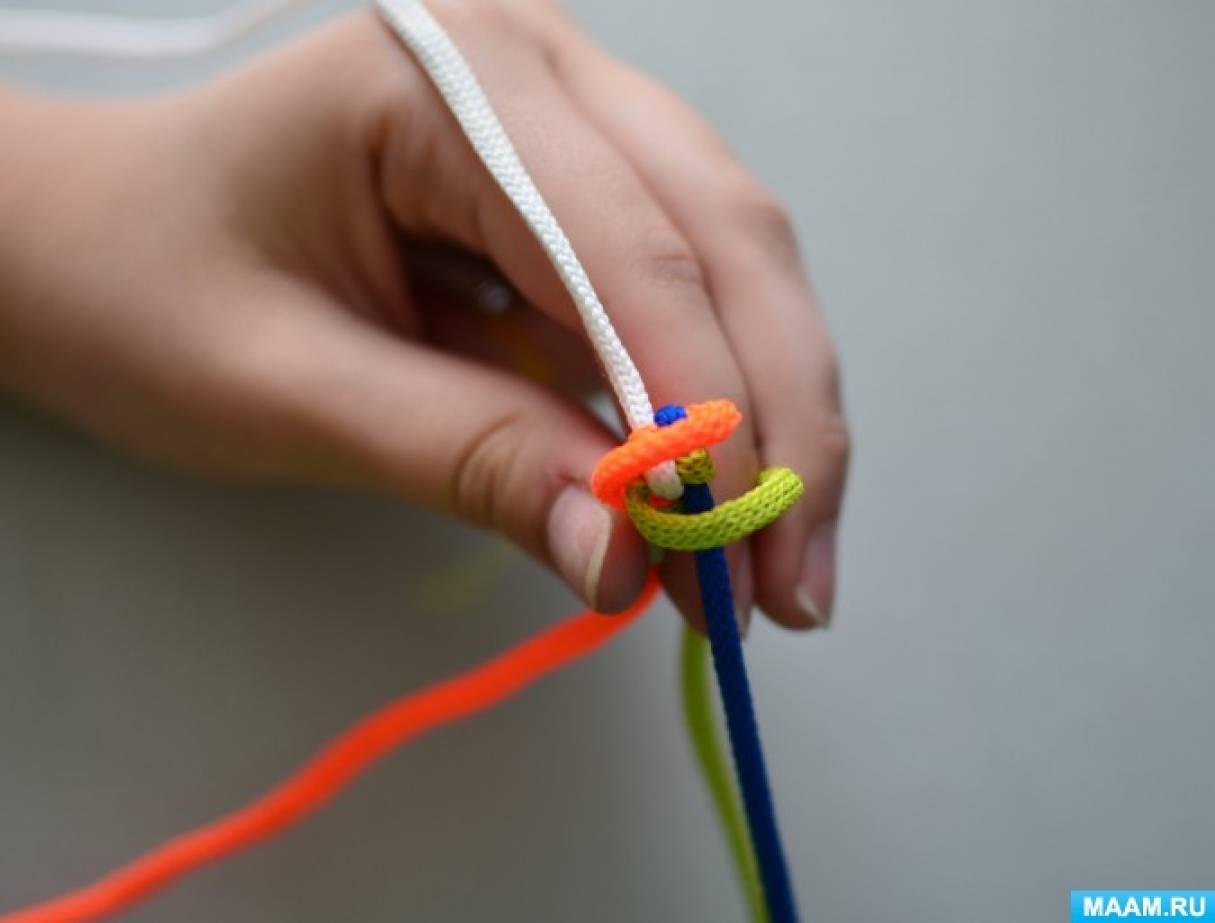 Плетение из цветного шнура