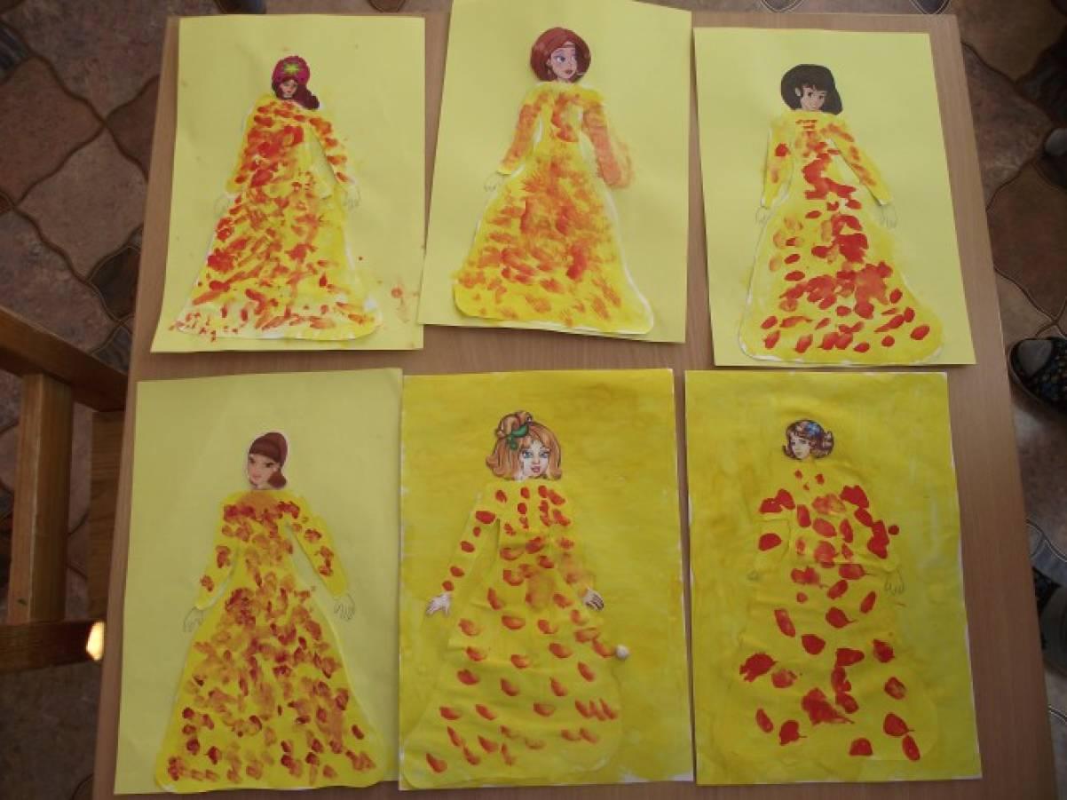 детские рисунки осени фото