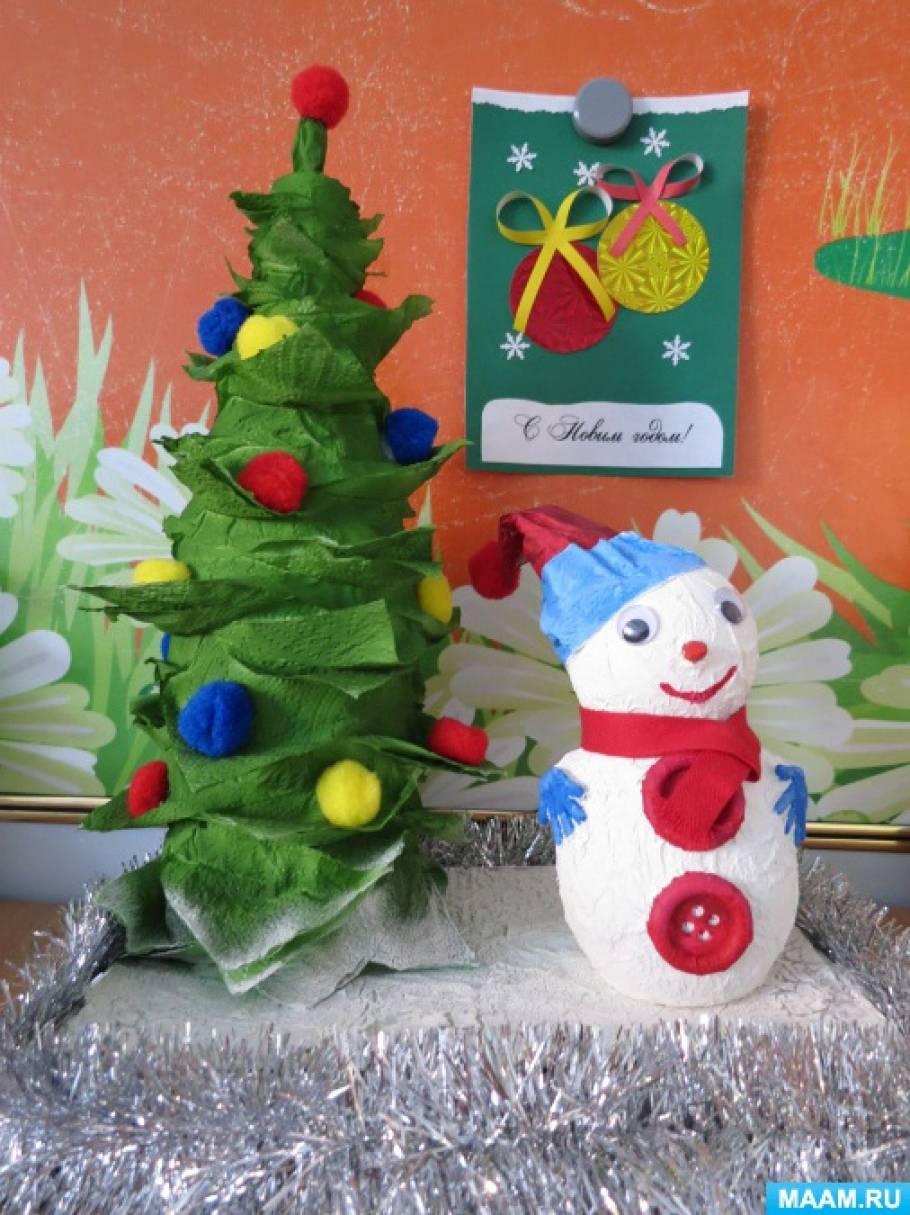 Фотоотчет «Конкурс поделок «Снеговик, снеговик жить в холоде привык»