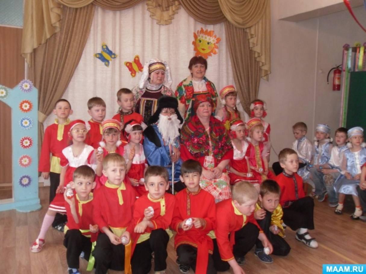 знакомство с русскими традициями щедровки