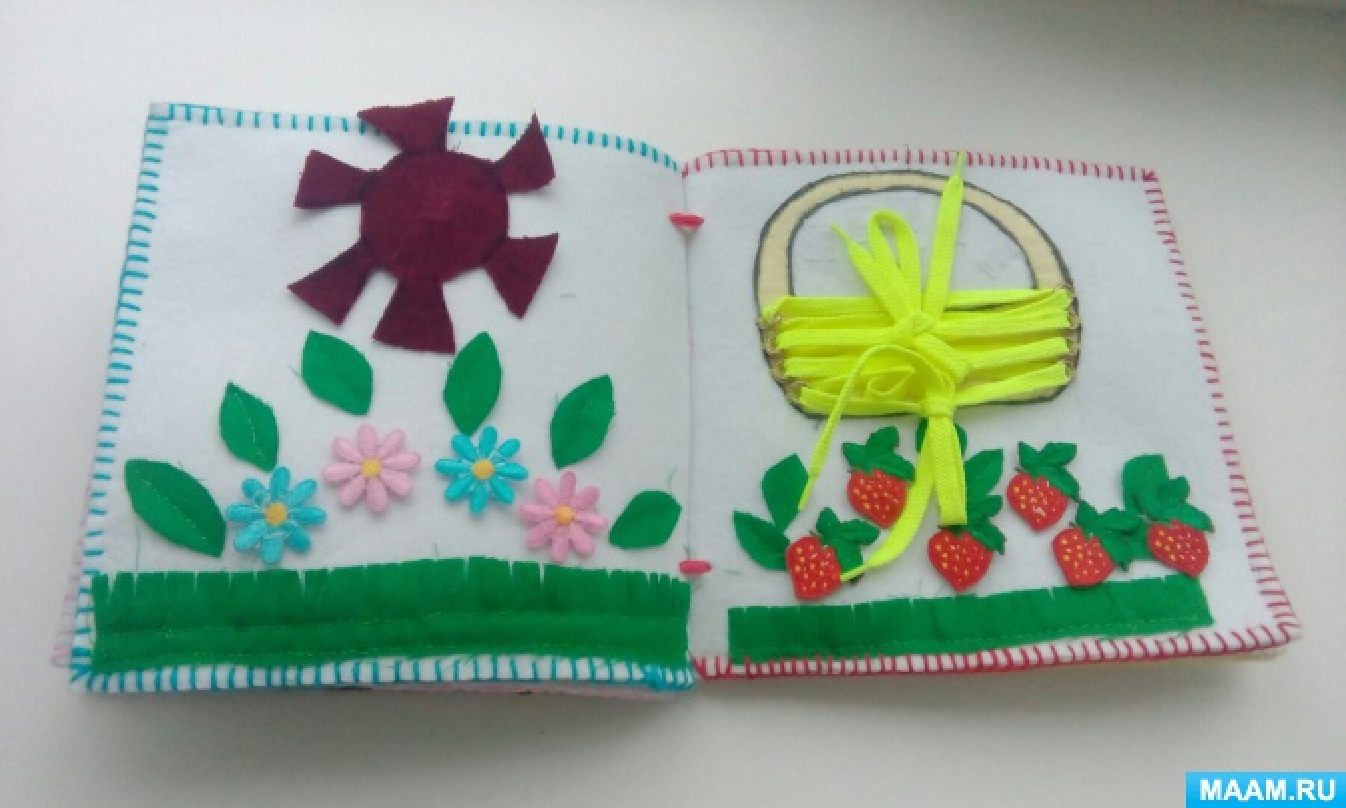 Книжка-малышка для детей 3–4 лет «Времена года»