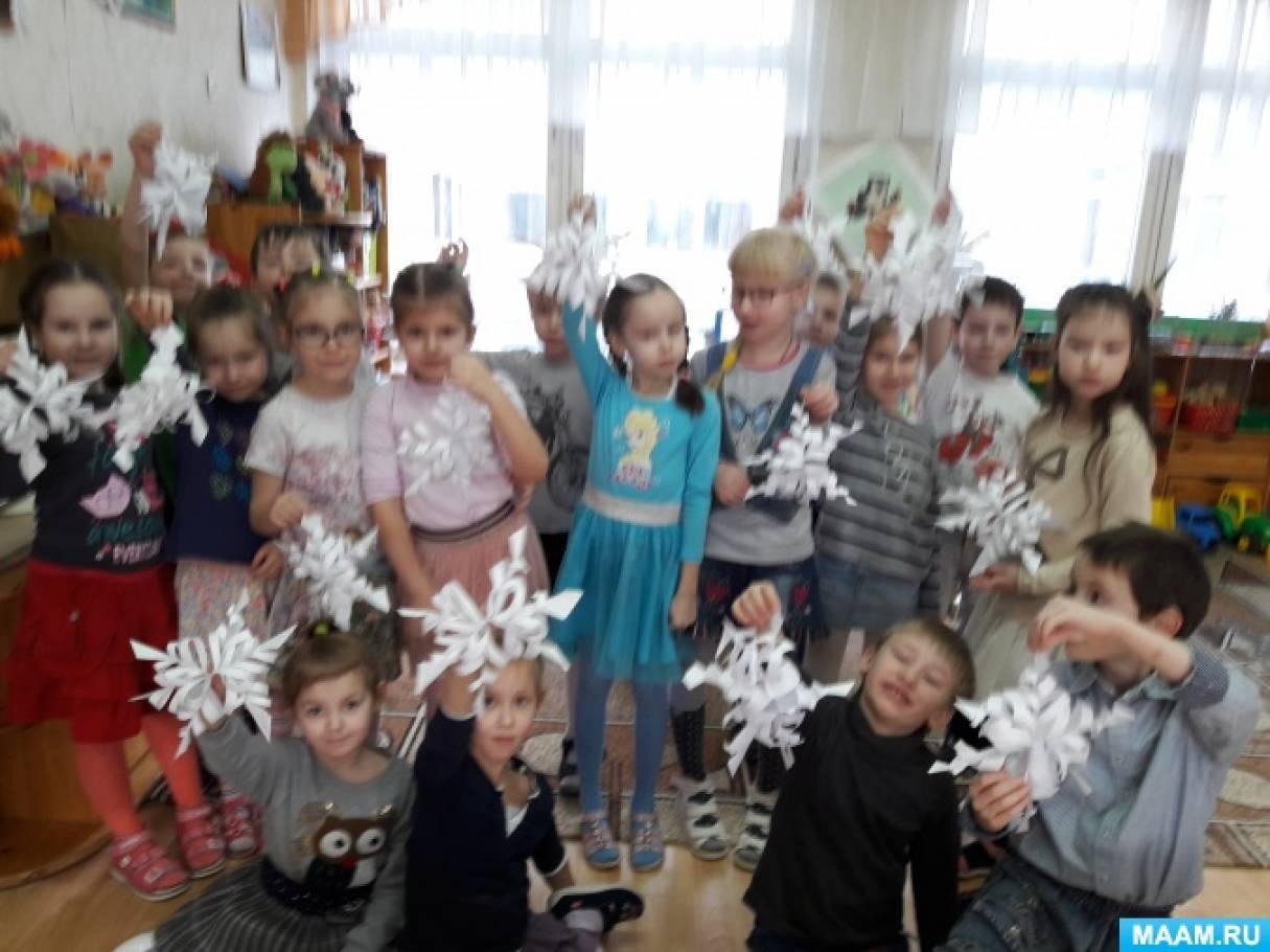 Мастер-класс «Мастерская Снегурочки «Ажурные снежинки»