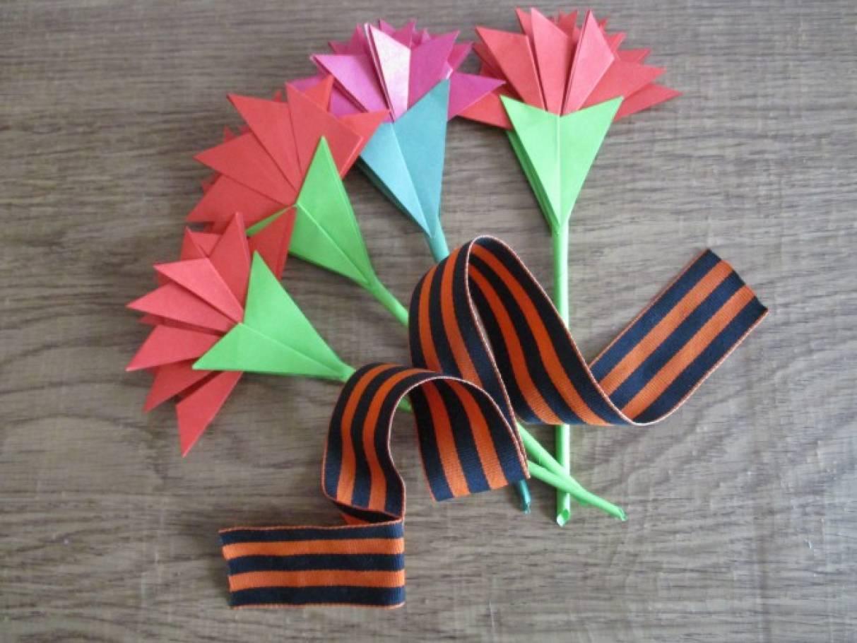 Поделки к 9 мая оригами