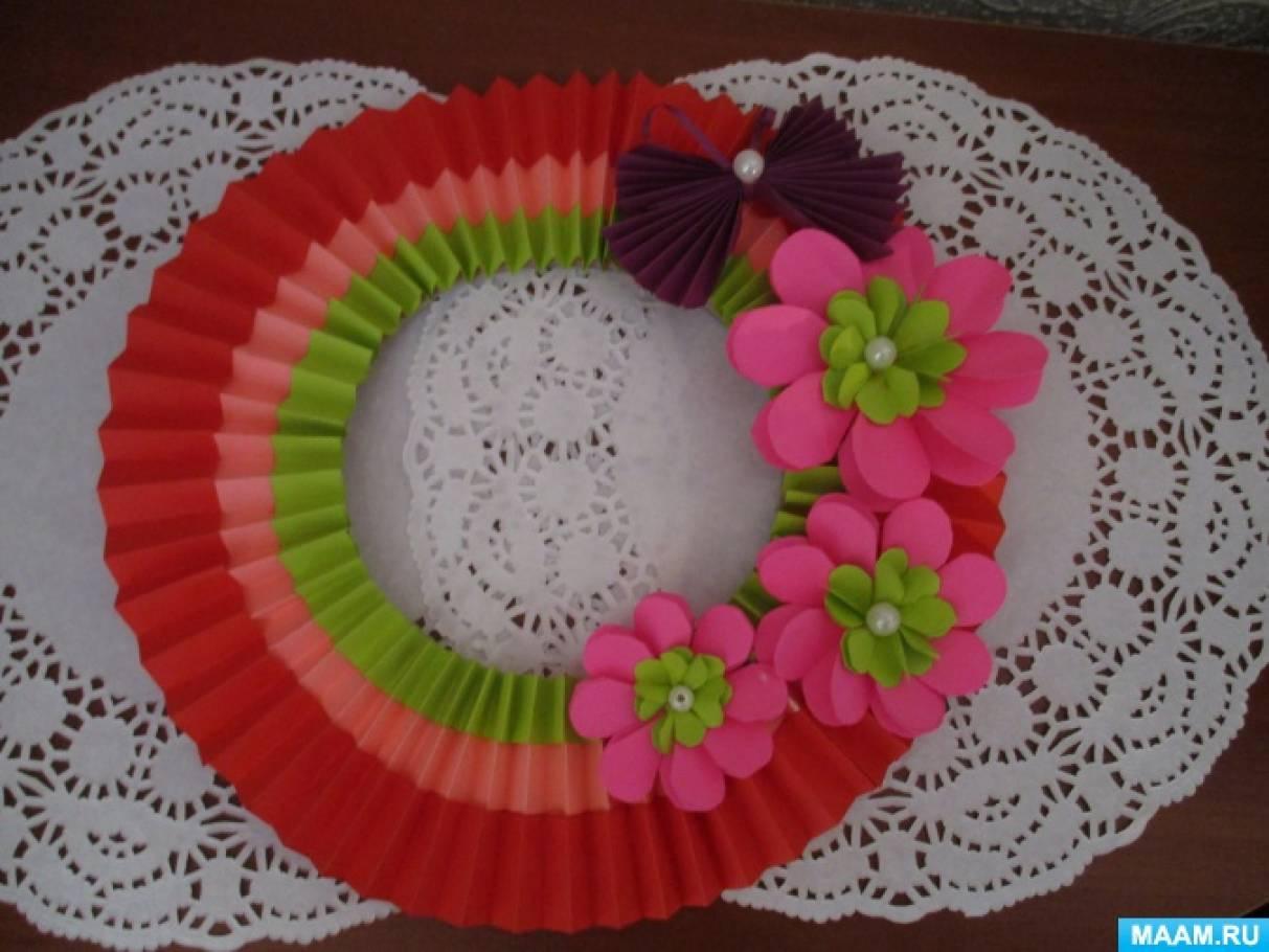 Мастер-класс «Весенний веночек для декора»