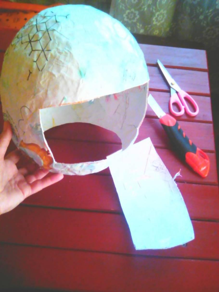Как сделать шлем для ребенка 752