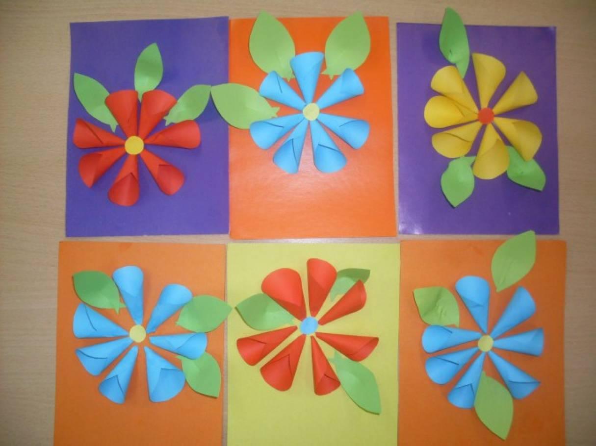 конспект занятия открытка с цветами домой