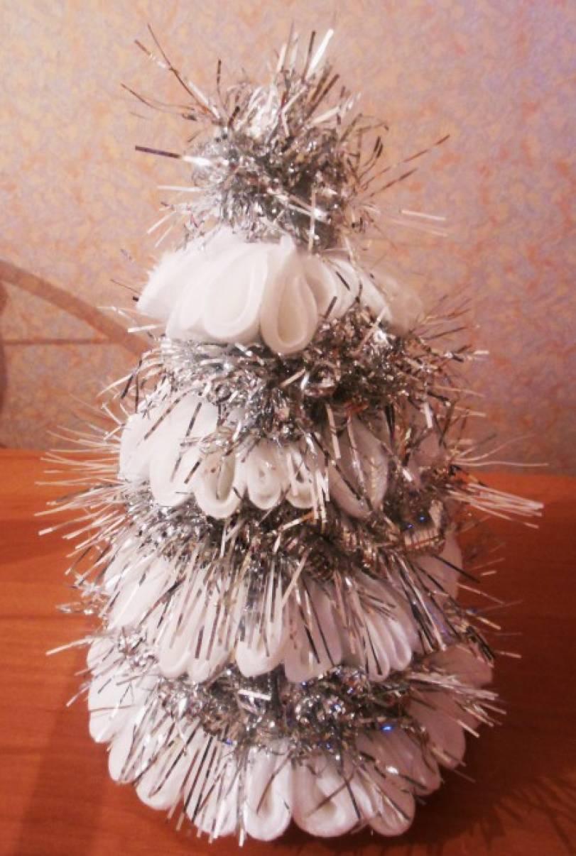 Мастер-класс по изготовлению новогодней елочки из ватных дисков