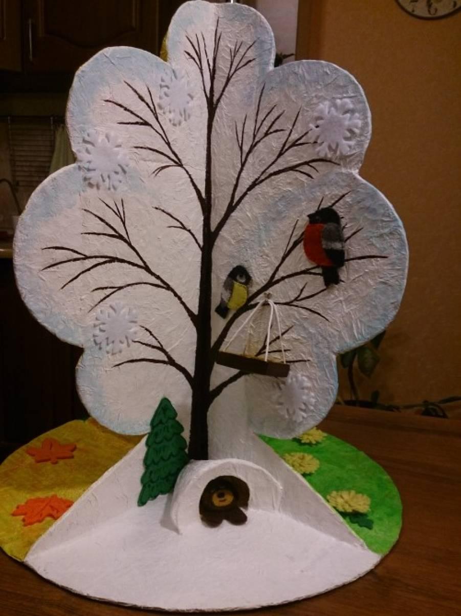 Как сделать объемное дерево из картона фото 161