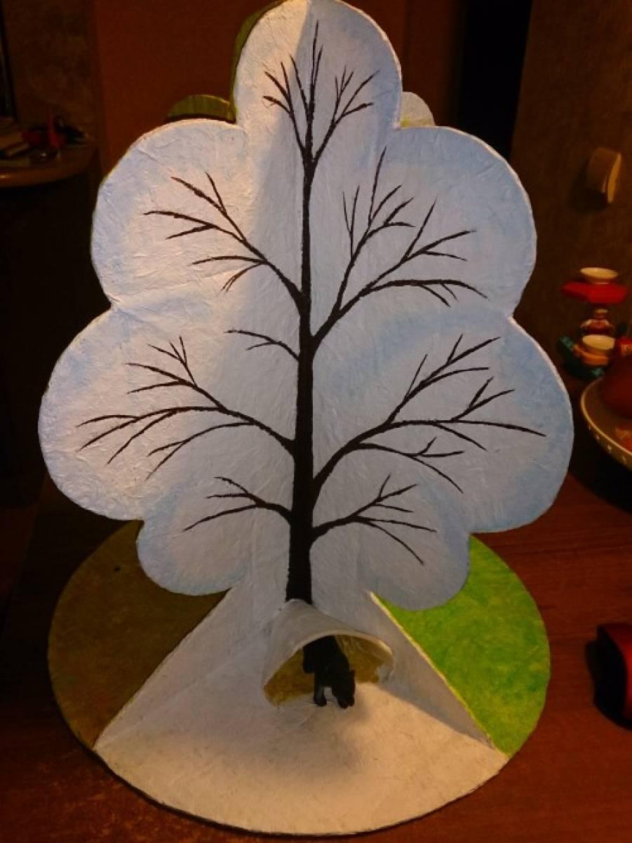 Макет сезонное дерево как сделать