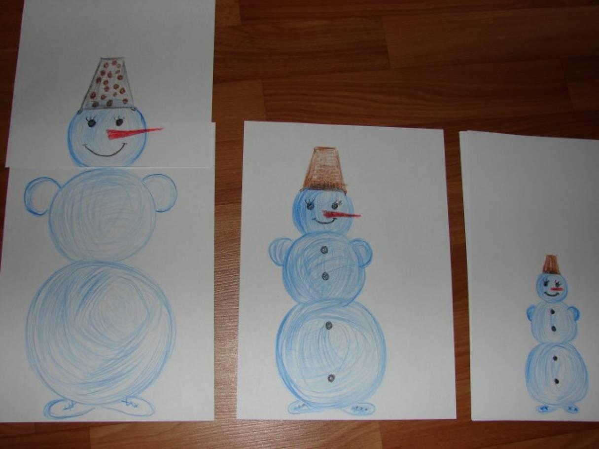 Дидактические игры своими руками «Веселая семейка снеговичков. Мама, папа, я», «Яркие шары и ленты»