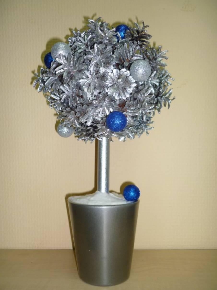 Мастер-класс «Новогоднее деревце из шишек»