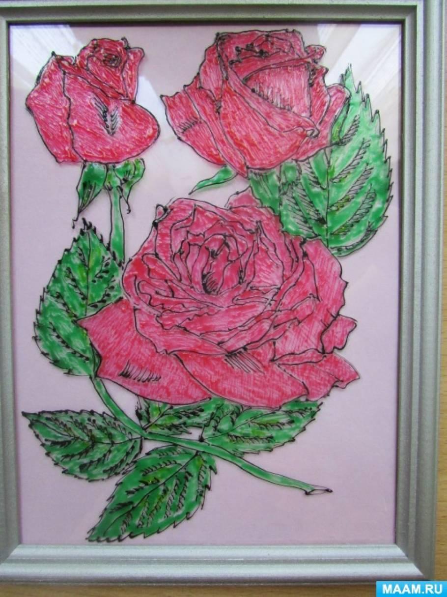 «Розы». Мастер-класс в технике «витраж»