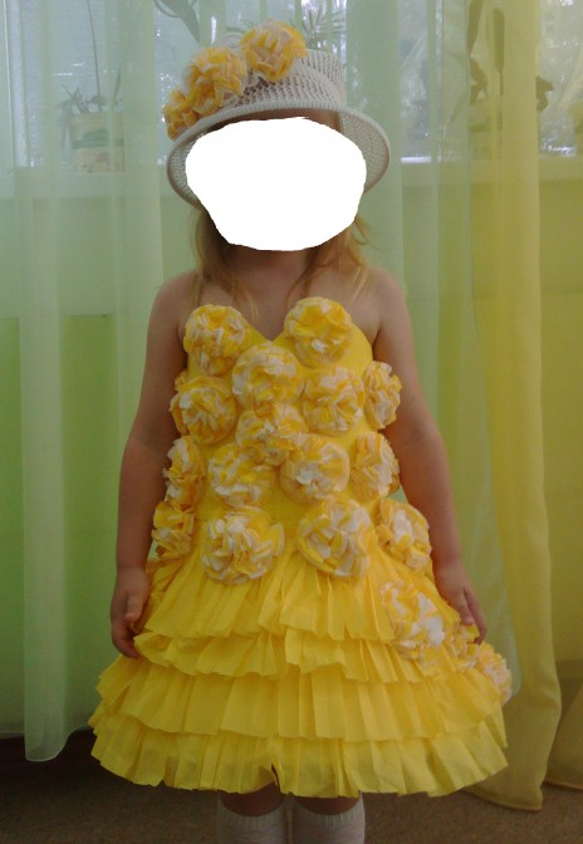 Как сделать платье из бумаги своими руками на себя 416