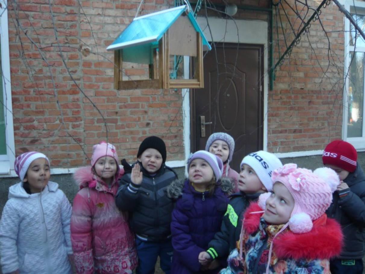 Фотоотчет «Птичьи столовые в нашем детском саду»