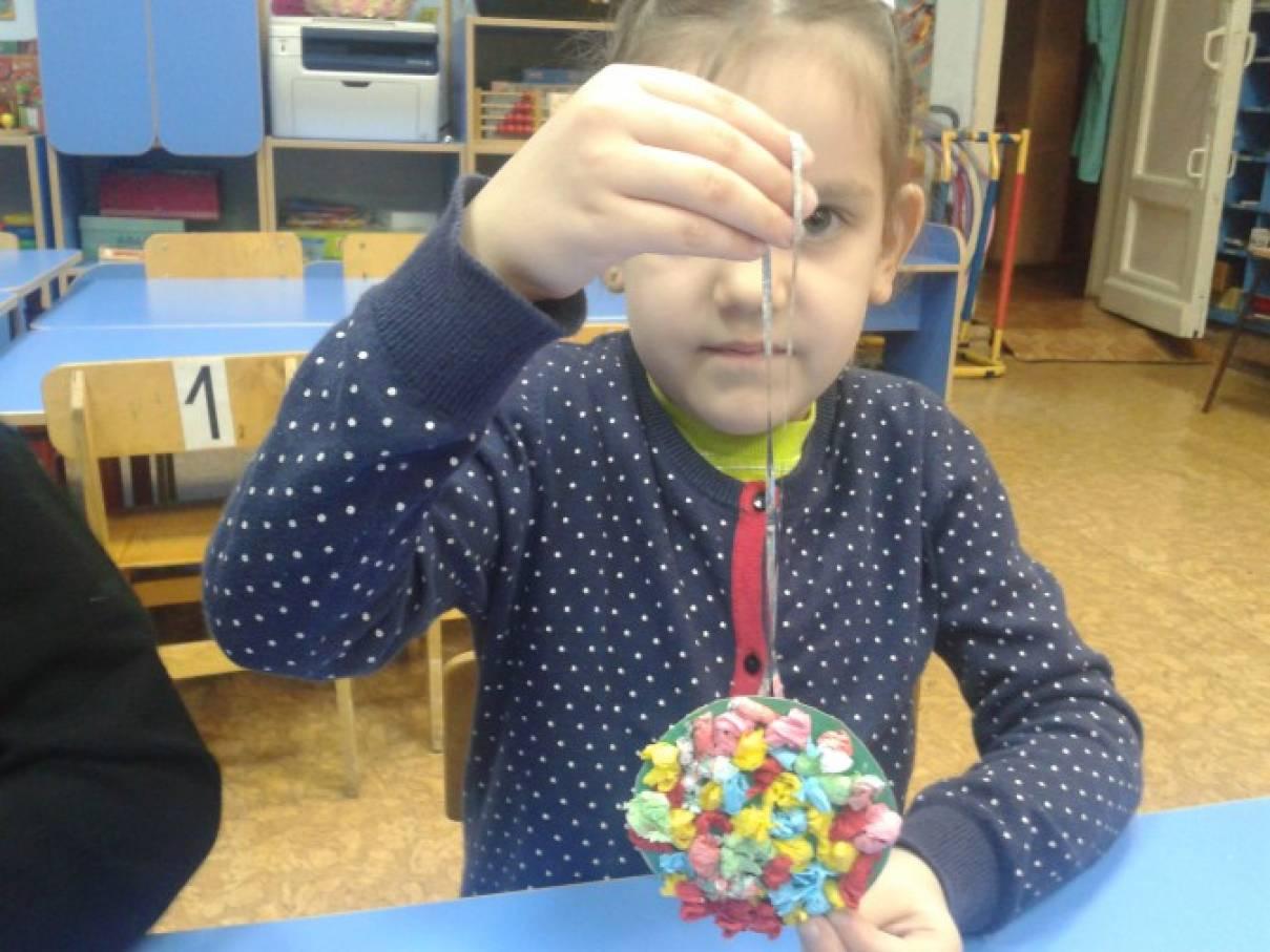 Птица оригами в детском саду