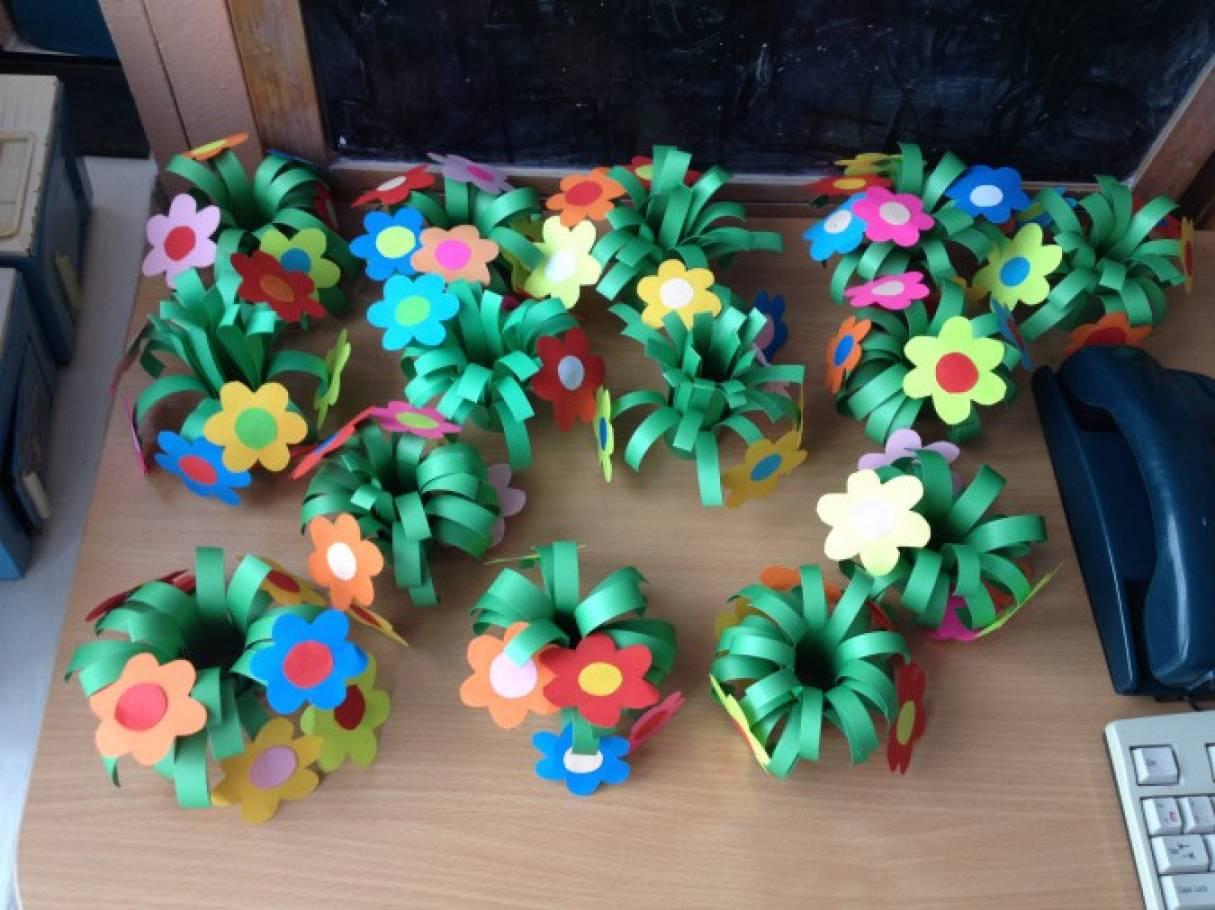 Мастер-класс по изготовлению поделки к весеннему празднику всех мам 8 Марта «Букет цветов»