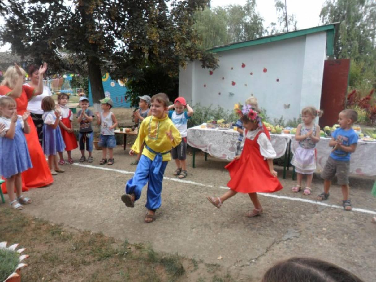 Развлечение на участке «Яблочный Спас»