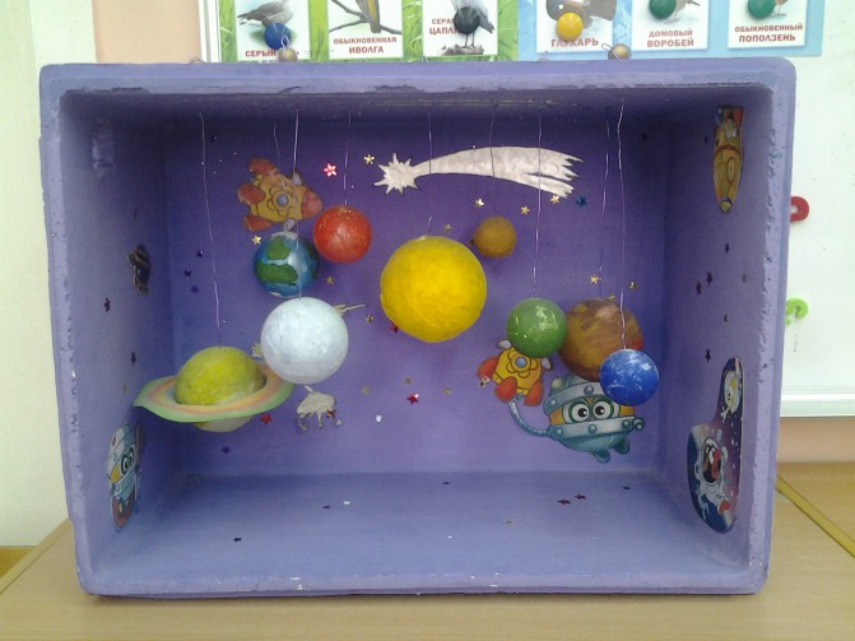 Космос в коробке поделка 98