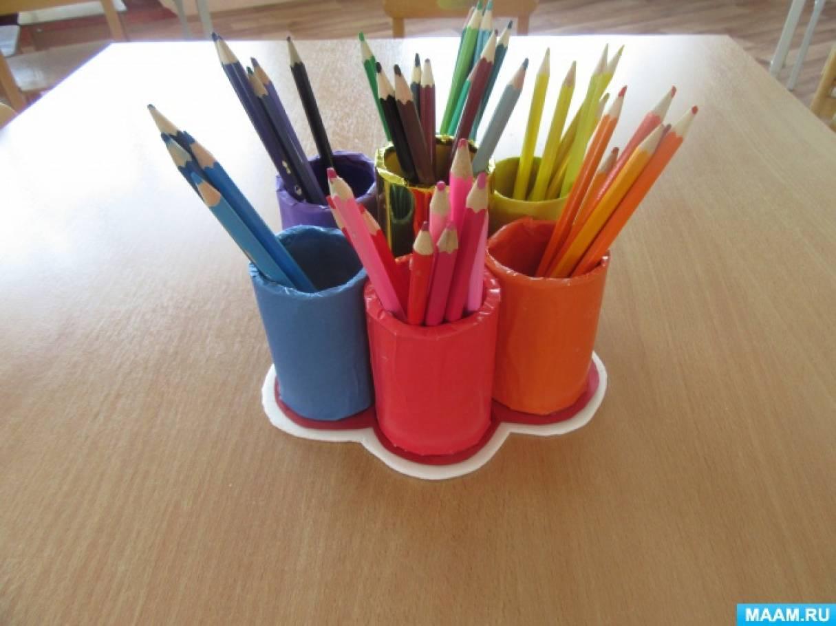 Мастер-класс «Радужная карандашница»