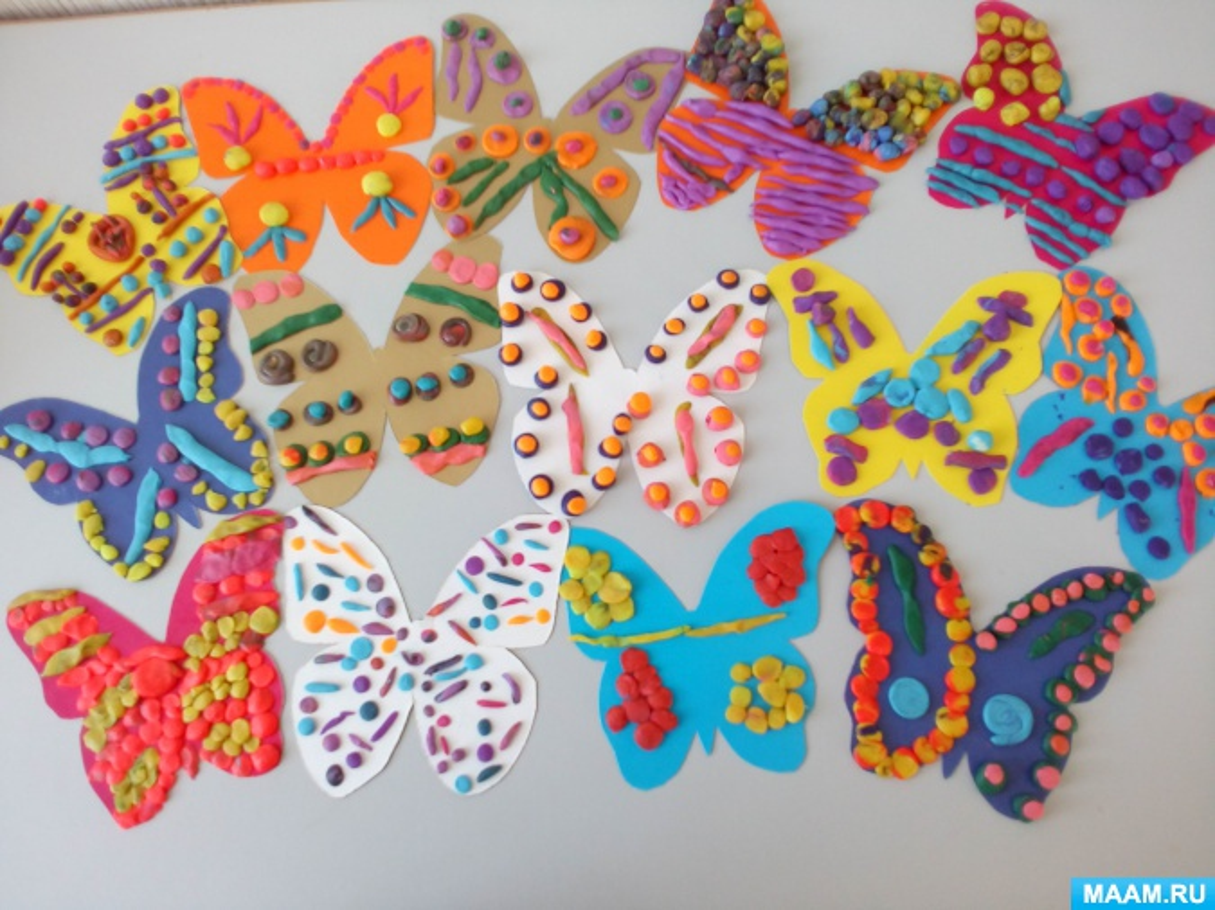 Фотоотчет о пластилинографии с воспитанниками старшей специальной группы «Бабочки вокруг нас»