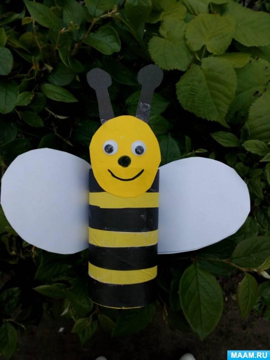 Мастер-класс по конструированию из втулки «Пчелка»