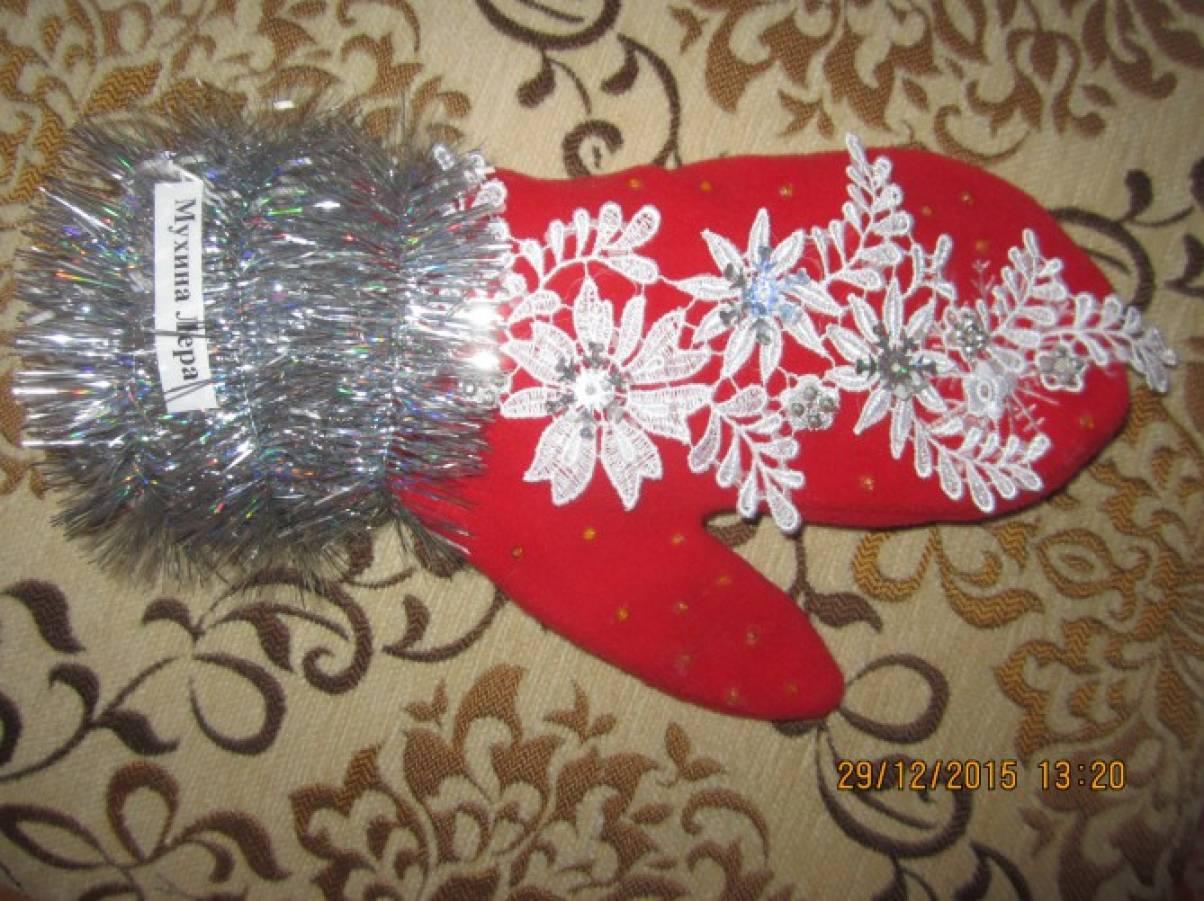 Поделки рукавичка для деда мороза