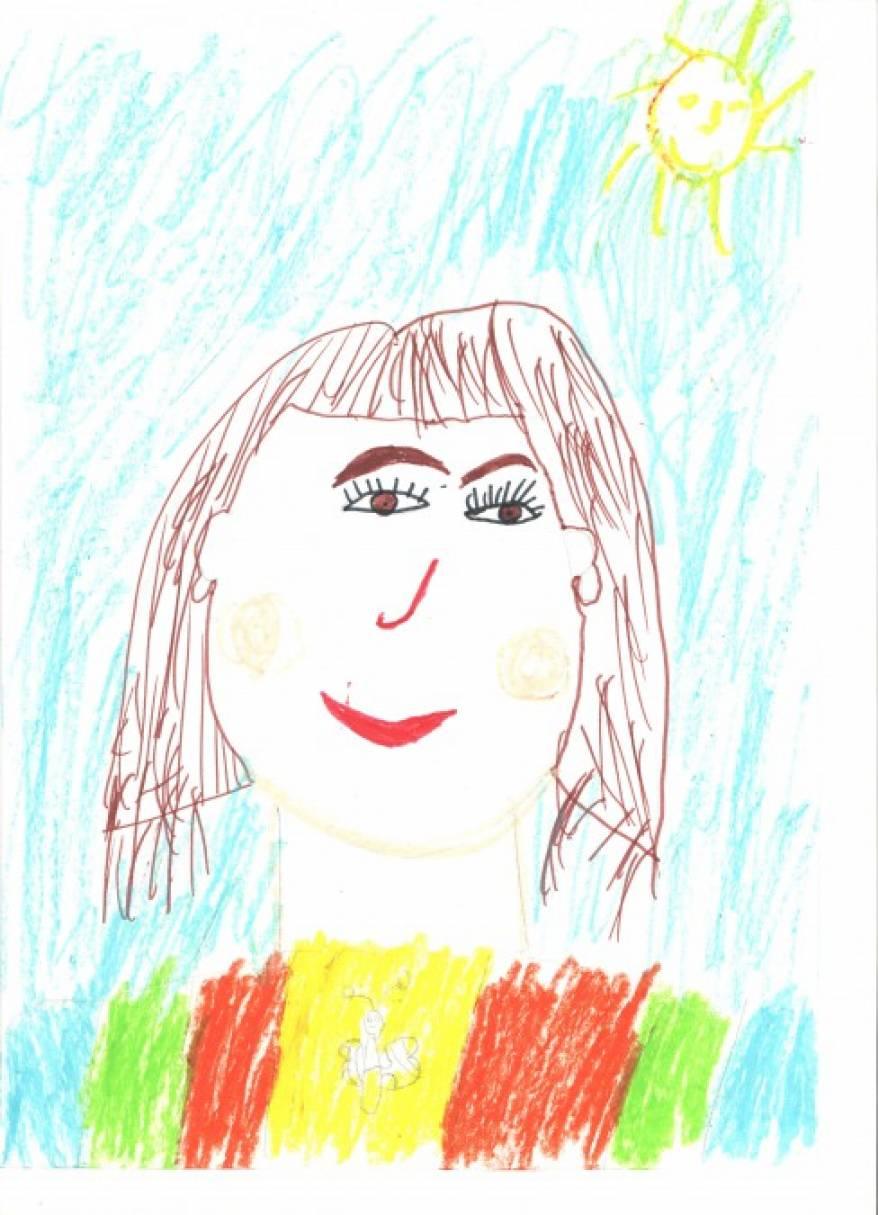 Детские рисунки мама с ребёнком