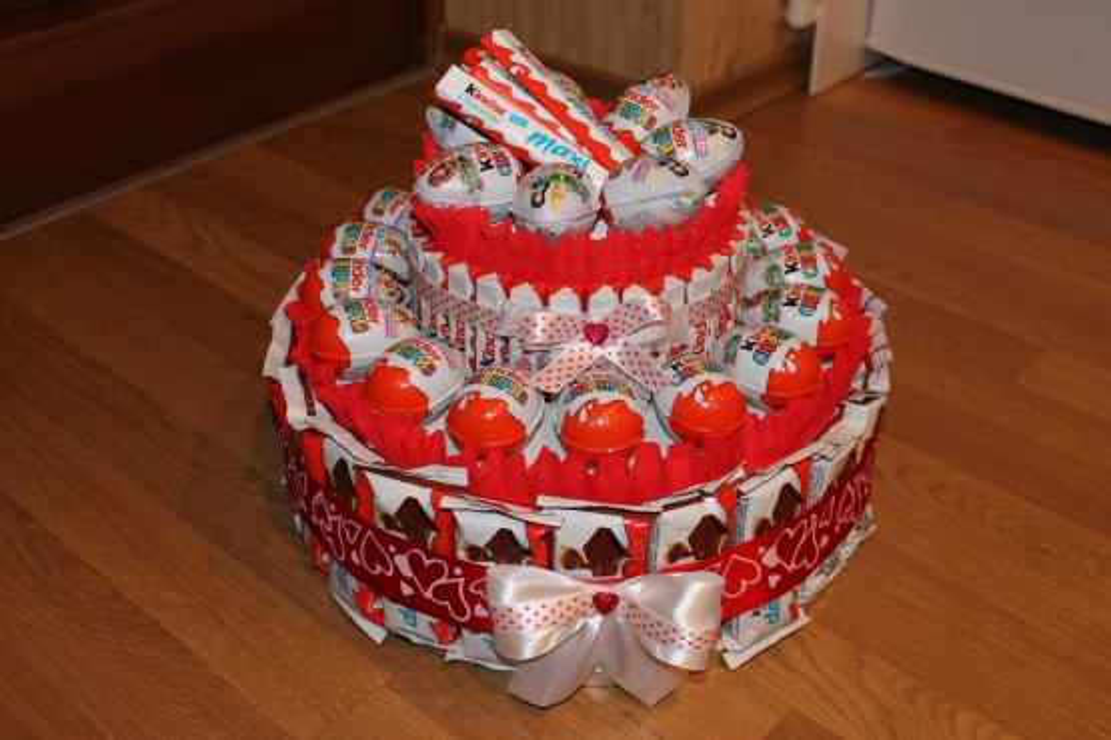 Торт из конфет рафаэлло пошаговое для начинающих 183