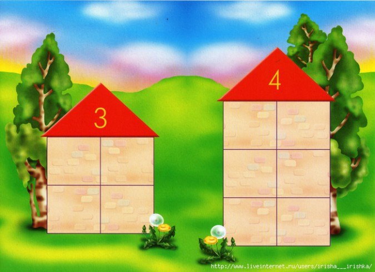 Как сделать числовой домик