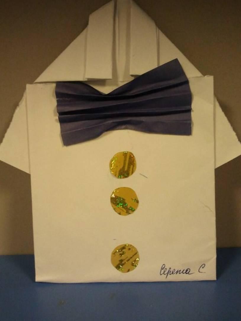 Интегрированное занятие по ИЗО-деятельности. «Рубашка в технике оригами. Подарок к Дню защитника Отечества»