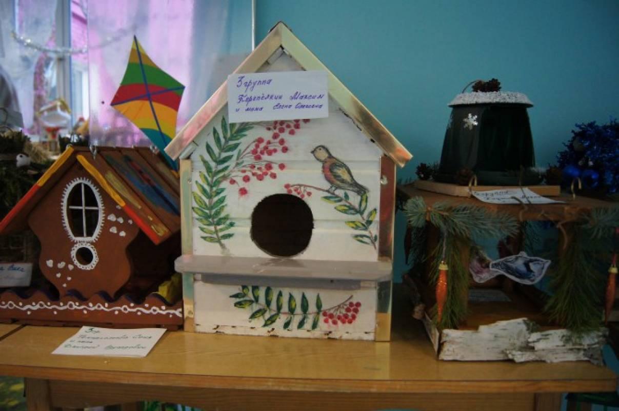 Фотоотчёт о выставке-конкурсе «Лучшая кормушка для птиц»