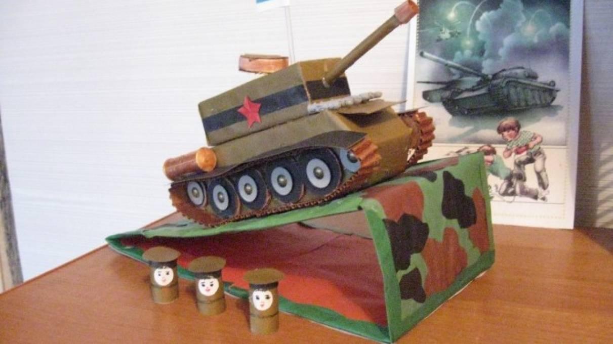 Как сделать своими руками танк из картона 39