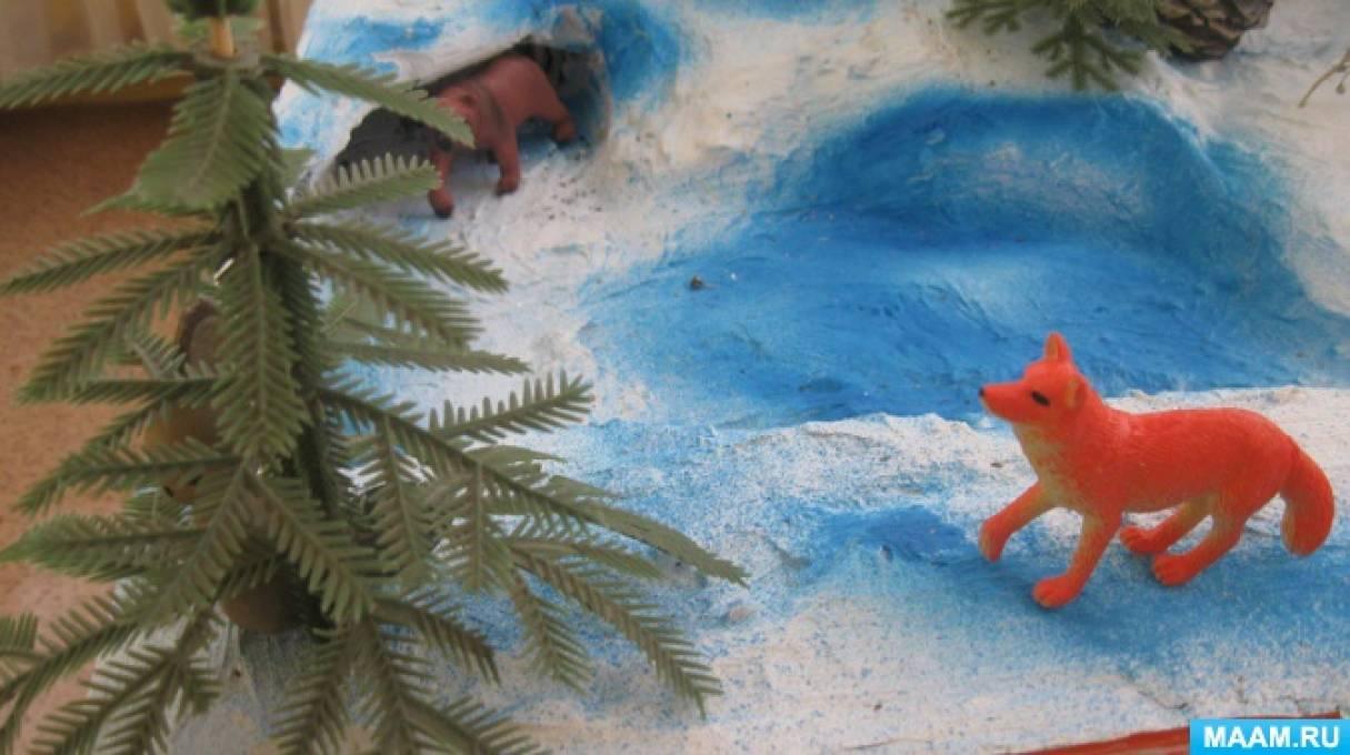 Мастер класс по изготовлению макета: «Зима в лесу»