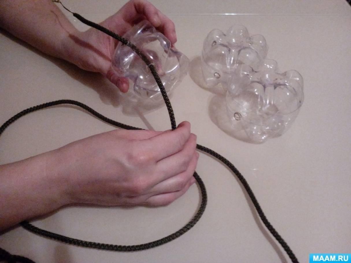Поделки из верёвки из пластиковой бутылки 16